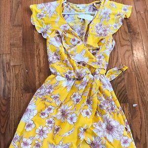 Charming Charlie yellow dress, Large, new with tag